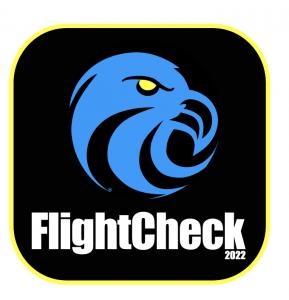 FlightCheck 2022 logo new yellow stroke